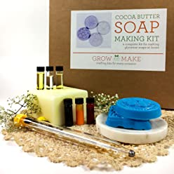 Deluxe DIY Cocoa Butter Soap Making Kit - Learn how to make home made natural soaps