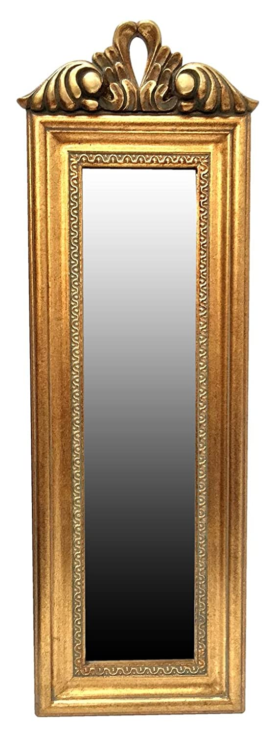 My Glam Home Small Slim Mirror, Antique White TAY14