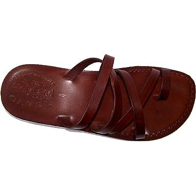 Holy Land Market Unisex Leather Biblical Flip Flops (Jesus - Yashua) Bethlehem Style I   Sandals