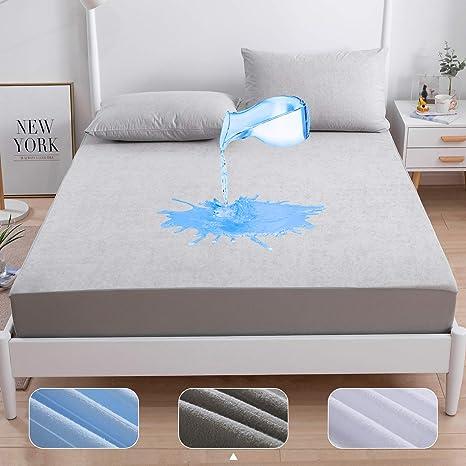 Elastic Waterproof Mattress Pad Sheet Mattress Bed Cover Protector BedBug Proof