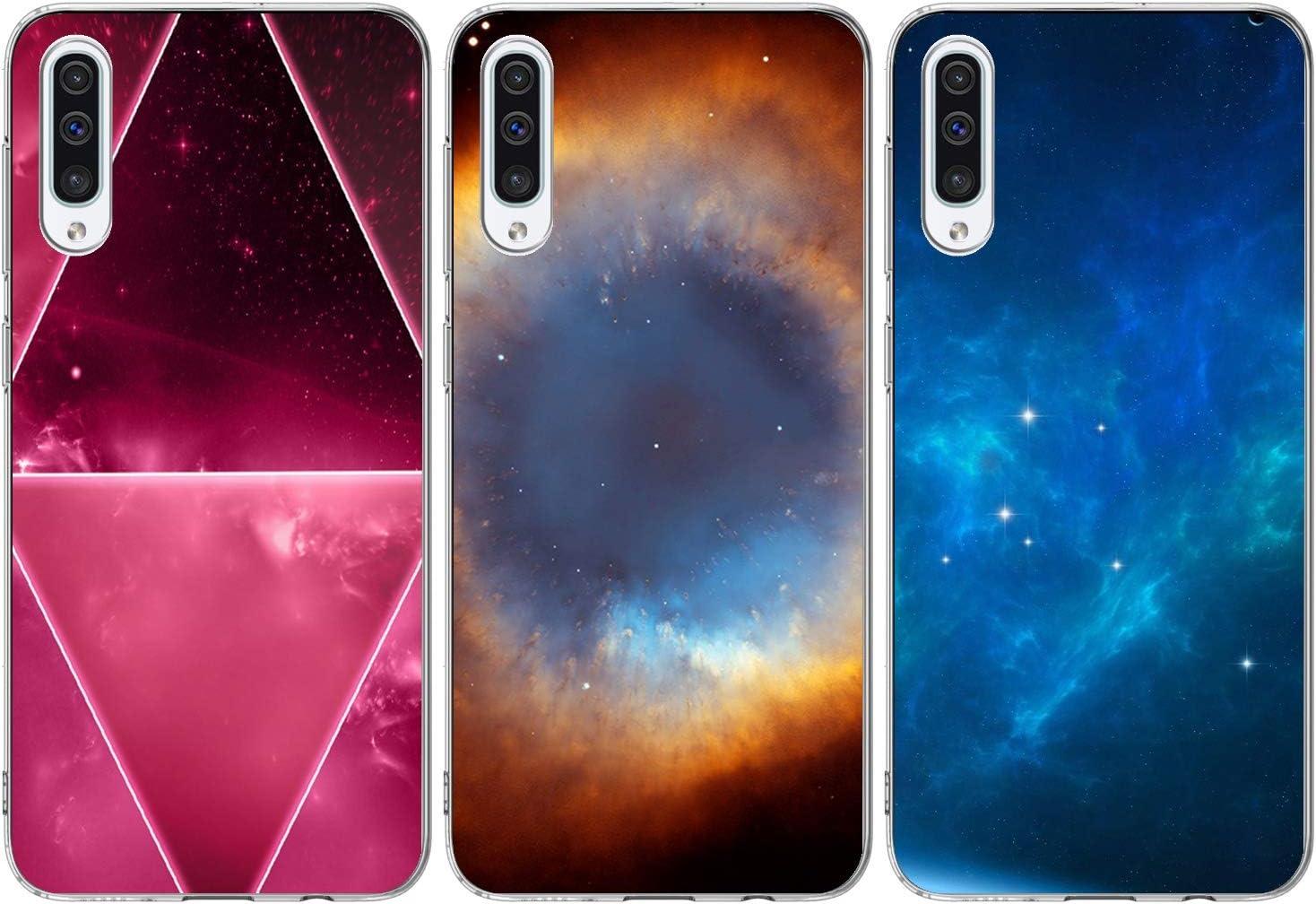 Sternenhimmelx2+Ankerx1 3X H/ülle Silikon Kompatibel f/ür Samsung Galaxy A50 Handyh/ülle Case Handytasche Schutzh/ülle Matt Durchscheinend TPU Bumper Cover 3 St/ück