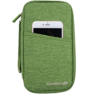 Organizador documentos KingSnow, para viaje, con bolsillos con cremallera, para documentos de viaje