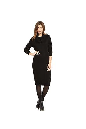 84cc3284e658 V By Very Fluffy Yarn Cowl Neck Midi Dress in Black Plus Size 20   Amazon.co.uk  Clothing