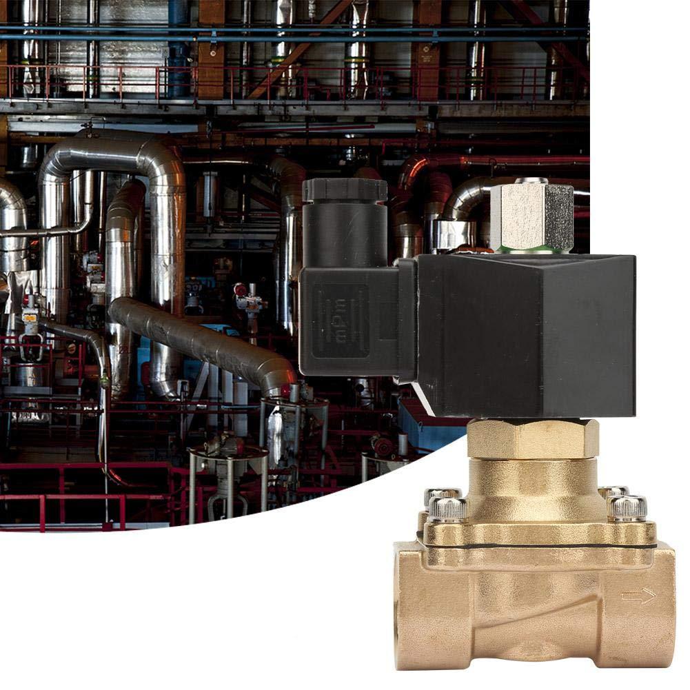 Electrovanne G3 AC 220V 4Electrovanne Electrique En Laiton Normalement Ouverte DN20