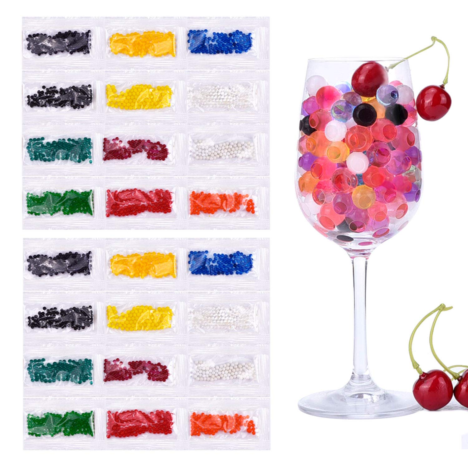 Clear Hicarer 10000 Pieces Vase Filler Beads Gems Water Gel Beads Growing Crystal Pearls Wedding Centerpiece Decoration