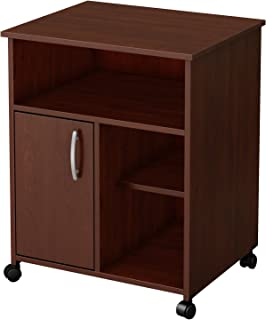 South Shore 1 Door Printer Stand Storage On Wheels, Royal Cherry