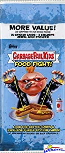 2021 Topps Garbage Pail Kids Food Fight HUGE Factory Sealed JUMBO FAT Pack with 24 Cards Including EXCLUSIVE CEREAL AISLE INSERTS & 2 GREEN PARALLELS! Look for Autos, Printing Plates & More! WOWZZER!