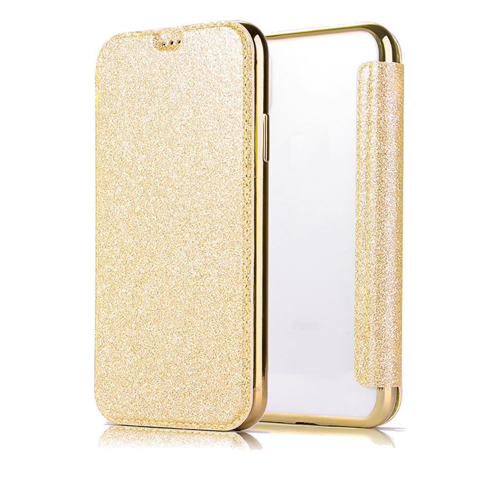 Sycode Flip Hü lle fü r Galaxy S7, Luxus Schwarz Buchstil Ü berzug Zurü ck Cover mit Pu Leder Brieftasche fü r Samsung Galaxy S7-Schwarz