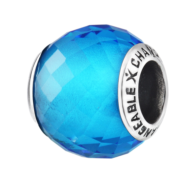 CHANGEABLE Damen Charm Murano Glas 925 Sterling Silber Nickelfrei Beads