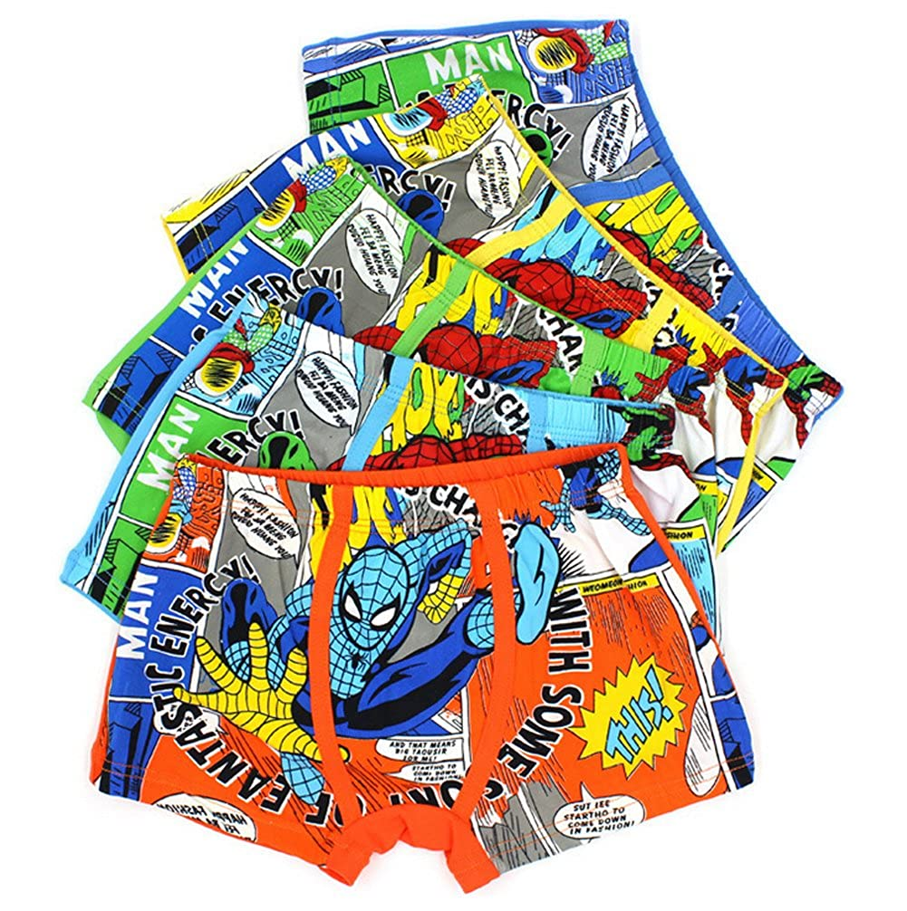 YUMILY 2-8 Years Old Boys Funny Spiderman Boxer Briefs Colorful Underwear 5 Multipack CAETNK1706196