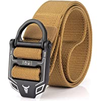 Mens' Outdoor Sport Tactical Belt Military Nylon Training Belt Adjustable Waistband