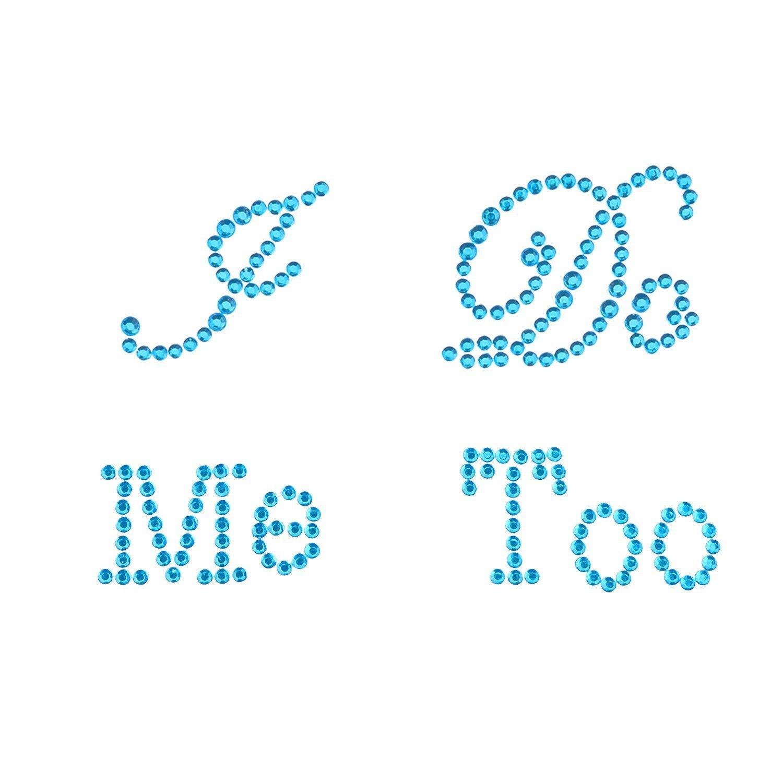 Syndecho Set of '' I Do'' et ''Me too'' Stickers pour Chaussures de Mariage Décoration (Bleu)
