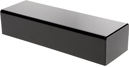 Plymor Black Acrylic Rectangular Display Base, 3 H x 14 W x 4.5 D
