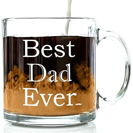 best dad ever glass coffee mug 13 oz top birthday gifts for dad unique