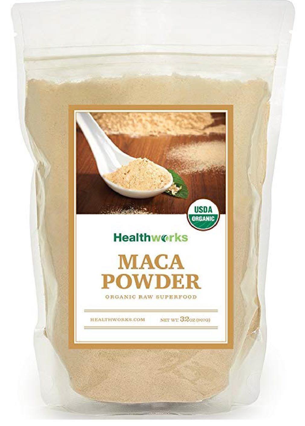 Healthworks Maca Powder Peruvian Raw Organic, 2lb