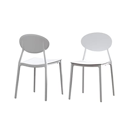 Molded Plastic Patio Furniture.Amazon Com Great Deal Furniture Brynn Outdoor Plastic Chairs Set