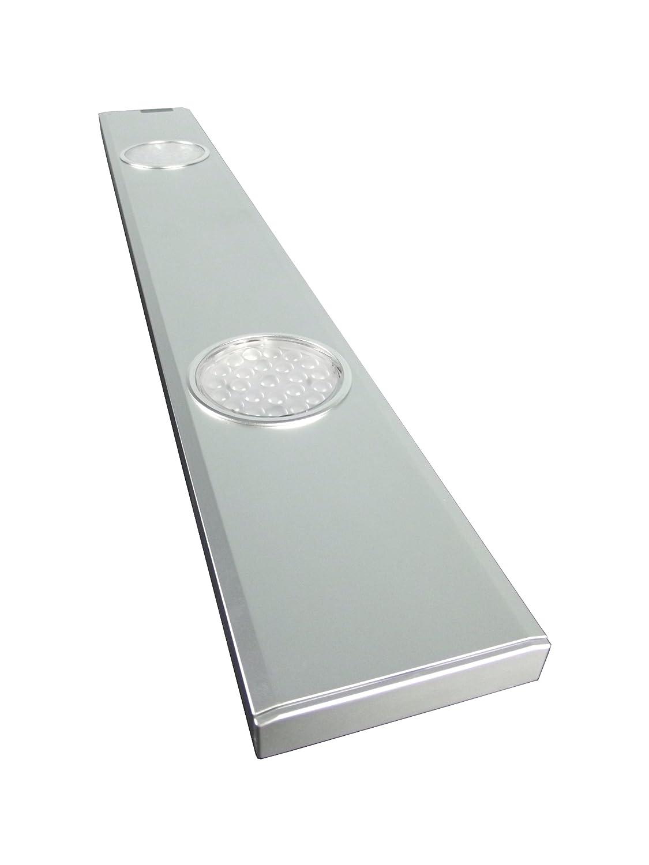 Rolux LED Unterbauleuchte 6,8W   kaltweiß mit IR Sensor Schalter, Aluminium, 6.8 W, Silber, 500mm