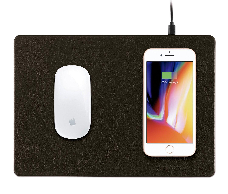 Minibatt PowerPad Alfombrilla de ratón color negro con carga inalámbrica QI