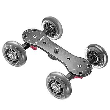 Neewer Scaled Cámara Cuadro Dolly Slider con 10Kg Capacidad de Carga Diseño de Patinador Varillas de