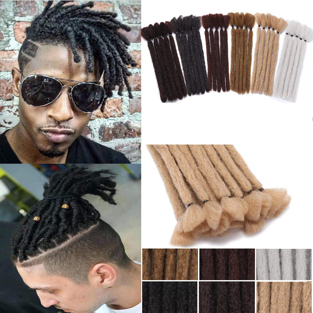 Amazon Com 6 Inch Short Handmade Dreadlocks Extensions Soft Synthetic Braiding Hairpieces For Men And Women Faux Locs Crochet Dreads 15 Strands Pack Folded Hair Reggae Hip Pop Light Brown Beauty