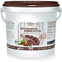 AniForte Bio Hagebutten 1kg ganze Früchte, Vitamin C und Gelenk Unterstützung aus Ökologischen Anbau, Hagebutte getrocknet, Natur Pur für Pferde und Tiere, Naturrein in Premium Rohkost Qualität