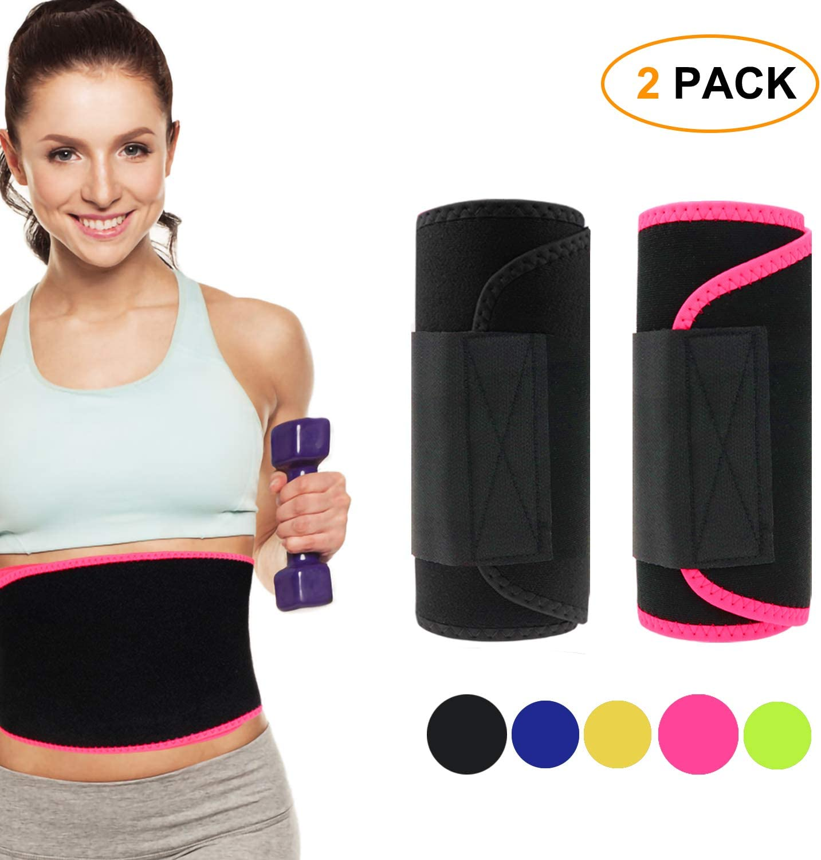 Tagefa Waist Trimmer, Best Abdominal Waist Trainer, Slim Body Belt, Slimmer Kit, Weight Loss Wrap, Stomach Fat Burner, Low Back and Lumbar Hip Support, Workout Sweat Enhancer Exercise for Men Women