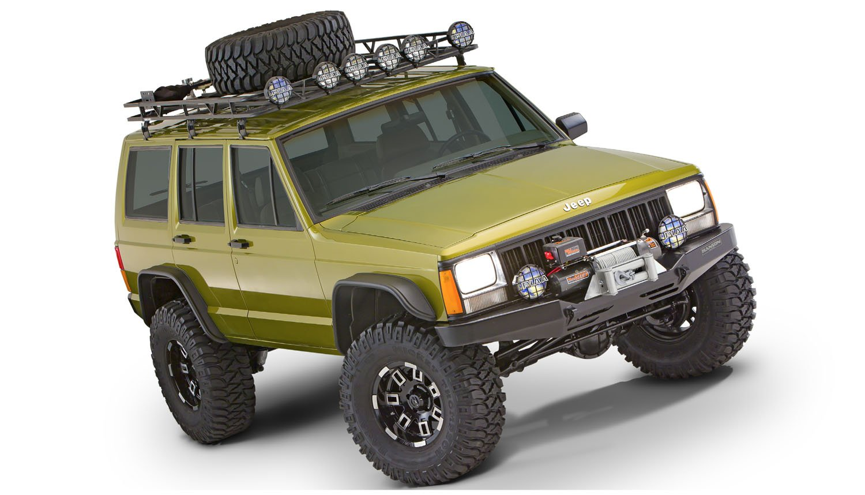 Set of 4 Bushwacker 10922-07 Jeep Flat Style Fender Flare
