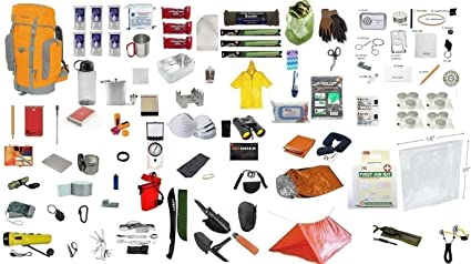 Bolsa de Bug Out Kit de supervivencia preparar 4 persona Deluxe 3 días Mochila Kit De Emergencia