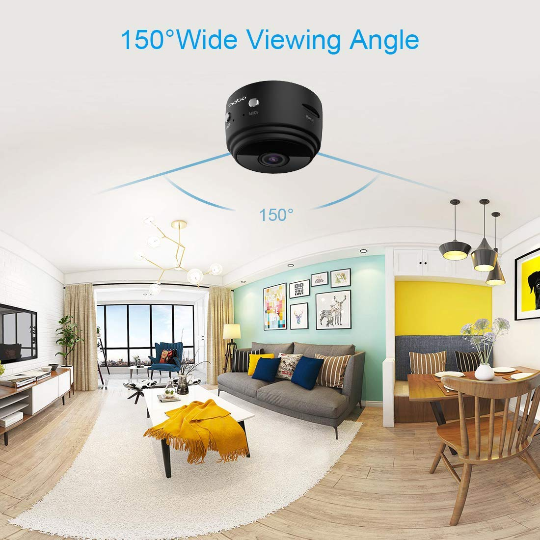Hidden Camera Mini Spy Camera Wireless HD 1080P Mini Hidden Camera Portable Home Security Cameras Nanny Cam with Motion Detection and Night Vision(2019 Update) by Techworld Collections (Image #7)