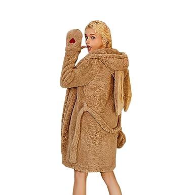 new collection discount shop new cheap Elonglin Femme Peignoir Velours a Capuche Pyjama Lapin Hiver ...