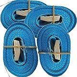 4 Spanngurte mit Klemmschloss (4m 250 Kg 25mm breite, blau)