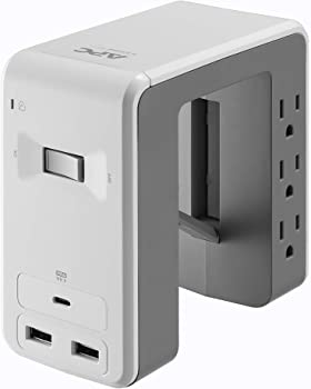 APC 6 Outlet U-Shaped Surge Protector for Desk Mounting