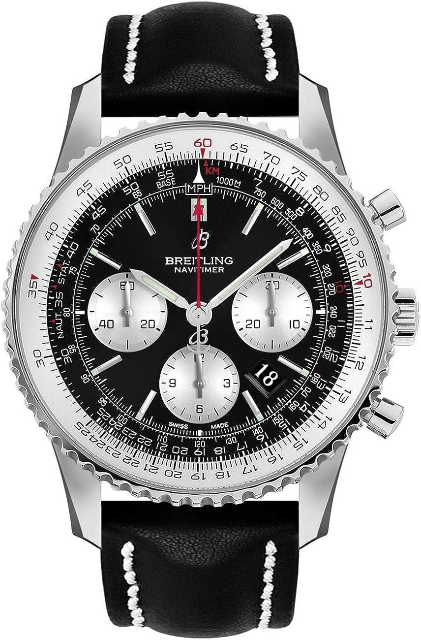 Breitling Navitimer AB0127211B1X1 - Reloj cronógrafo para hombre (acero, correa de piel negra)