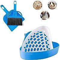 kathson Bunny Litter Box, Guinea Pig Litter Tray Ferret Potty Training Corner Litter Pan Cage Cleaner Litter Scooper for…
