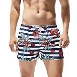 d9fd4362fa3a Cocobla Men s Beach Swimming Trunks Boxer Brief Swimsuit Swim Underwear  Boardshorts with Pocket (Z Beach Shorts(Stripe)