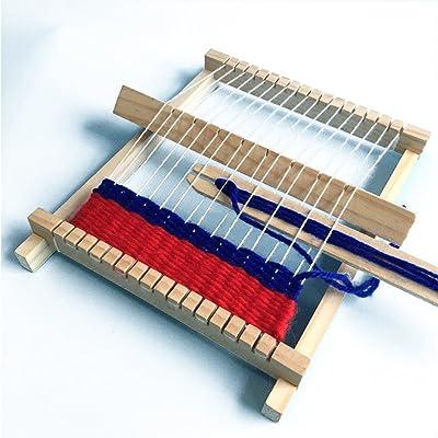 Zantec DIY Métier à tisser en bois à tricoter à la main de bricolage jouets enfants tissage machine développement intellectuel technologie production