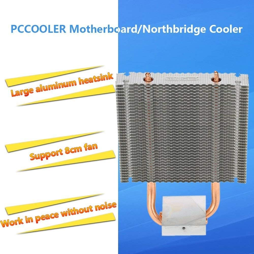 Accessori Elettronici PCCOOLER HB-802 Dispositivo di Frigorifera della scheda madre Northbridge Dissipatore di calore 2 Heatpipes Radiatore Frigorifera in alluminio Ventola di Frigorifera supportata d