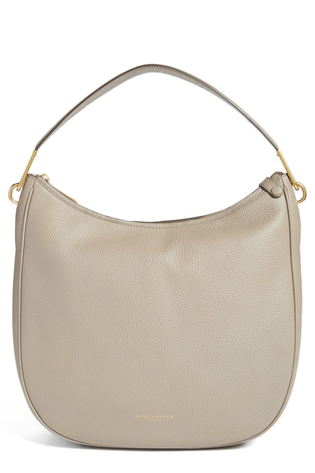 Marc By Marc Jacobs Pike Place Leather Hobo Shoulder Bag (Cement) (Cement)