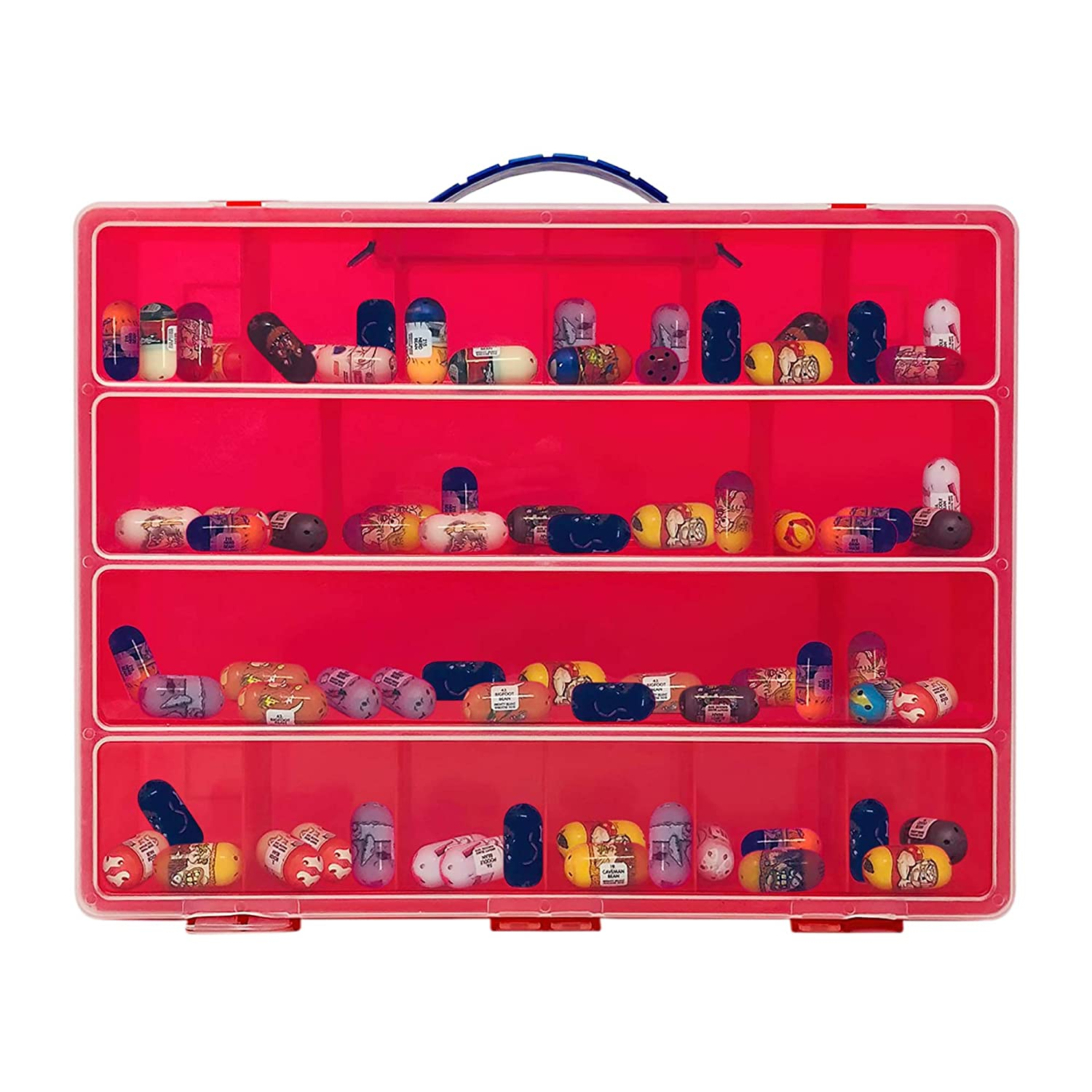 Compatible with Mighty Beanz This Box is Not Created by Mighty Beanz Red Life Made Better Carrying Case Toy Figure Organizer