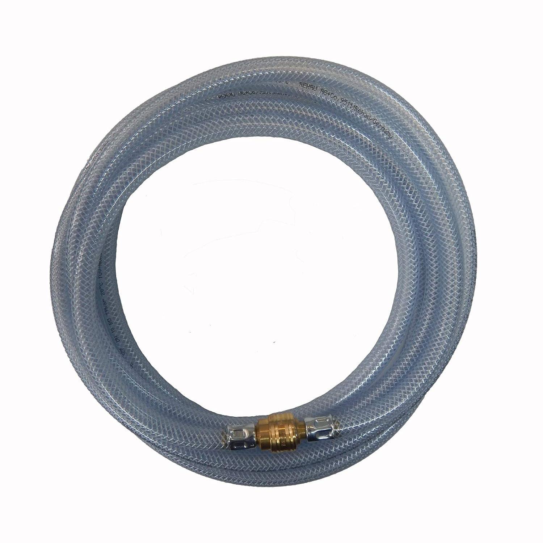 Rehau Raufilam E Kupplungen 13mm 15 m Profi PVC Druckluftschlauch Gewebeschlauch Kompressorschlauch Luftschlauch inkl