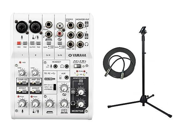 Yamaha – Mesa de mezclas de 6 canales/USB Interfaz de audio con ...