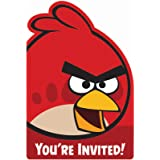 Angry Birds Invitations (8) Party Accessory