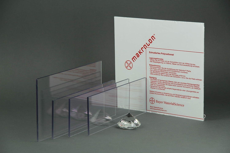10 mm, 250 x 250 mm Makrolon//Polycarbonat Scheibe//Platte Zuschnitt 10-15 mm transparent//klar