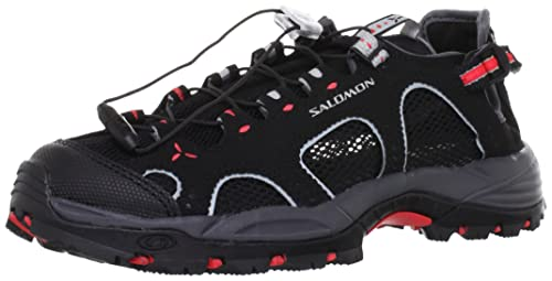 7f0d7a9c6a91 Salomon Women s s Techamphibian 3 Hiking Sandals Black Dark Cloud Papaya-B)