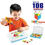 Toys Bhoomi Design & Play Puzzles 106 Piece Interactive Construction Games & Building Blocks for Kids Toys with Power Drill