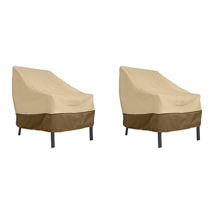 Classic Accessories Veranda Patio Lounge Chair Cover, Large (2-Pack)