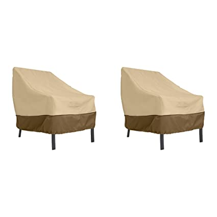 Enjoyable Classic Accessories Veranda Patio Lounge Chair Cover Large 2 Pack Andrewgaddart Wooden Chair Designs For Living Room Andrewgaddartcom
