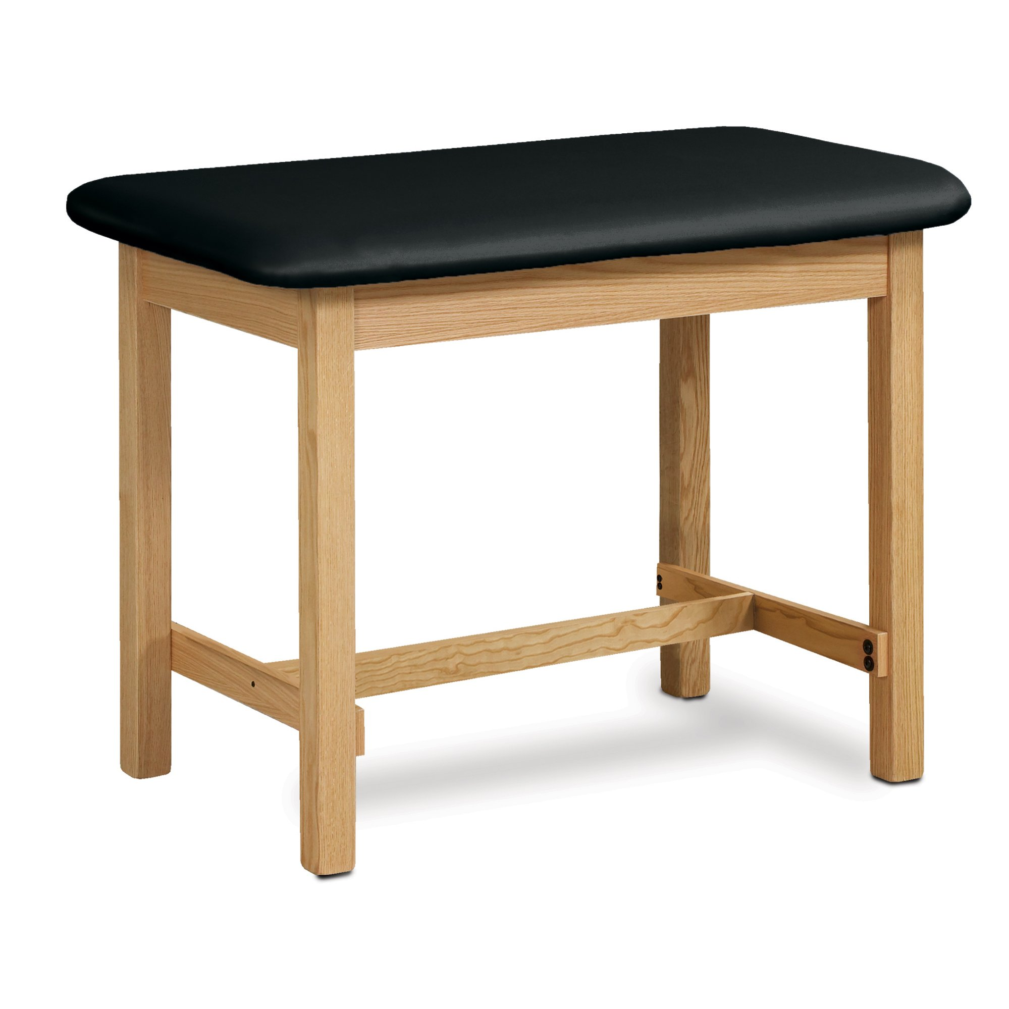 27'' Width Taping Table with H-Brace in Natural-Black