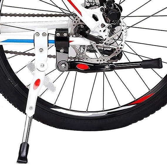 TRIXES Caballete Ajustable en los Laterales/Caballete Lateral/para Bicicletas con Diámetros de Rueda DE 20