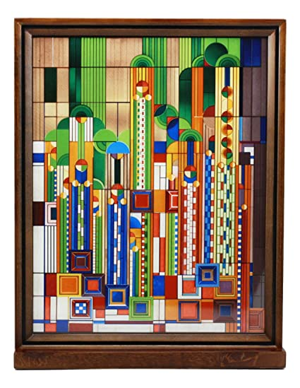 Frank Lloyd Wright Stained Glass Patterns.Amazon Com Ebros Frank Lloyd Wright Saguaro Forms And